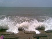 See Panoramic view of Sea beach with Hotels in Digha