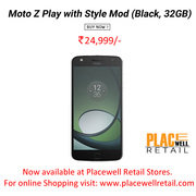 Buy Moto Z Play with Style Mod (Black,  32GB) Smartphone Best Price in