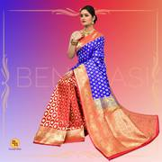 Buy Bengali Banarasi silk sarees online at Banarasi Niketan