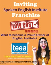 Inviting FRANCHISE FOR SPOKEN ENGLISH INSTITUTE WEST BENGAL