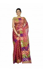 Buy Pure cotton Dhakai sarees online from Banarasi Niketan