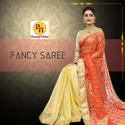 Buy the best collections of fancy sarees online shopping from Banarasi