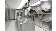 Plan for a well-equipped commercial kitchen with Bestekloza