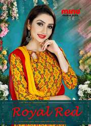 Manufacturer and wholesaler of Cotton Royal Red designer salwar suit