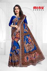 Manufacturer & wholesaler of Minu Cotton Printed Designer Butik saree