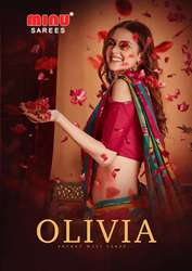 Manufacturer and wholesaler of Minu OLIVIA catalog Saree