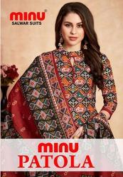 Best Cotton Printed Designer Patola Print and Pattern Salwar Set Minu