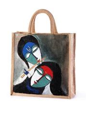 Lord Krishna Jute hand painted bags manufacturer,  exporter