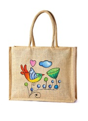 Jute Grocery bags manufacturer,  exporter,  and wholsaler India