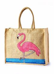 Jute Grocery Custom hand painted bags manufacturer,  exporter